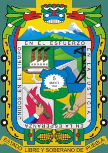 Escudo Estado De Puebla Mexico